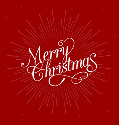 Merry christmas calligraphic design vector