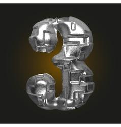 Metal figure 3 vector