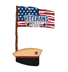 military hat with the flag of usa vector image