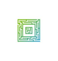 o maze letter logo icon design vector image