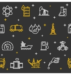 Oil Industry Background Pattern vector image