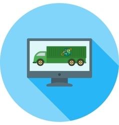 Online Logistics vector image