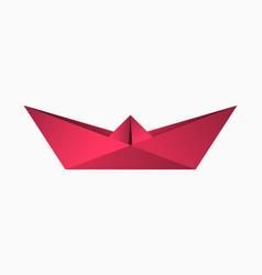 origami paper boat geometric shape folded vector image