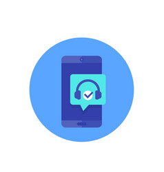 podcast in phone icon vector image