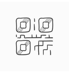 QR code sketch icon vector image