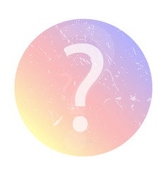 question icon social network avatar vector image