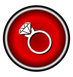 Ring icon isolated on background vector