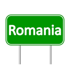 Romania road sign vector