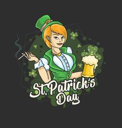 Saint patricks day ladies love beer party vector