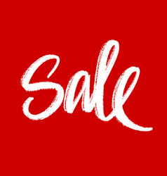 sale hand lettering vector image