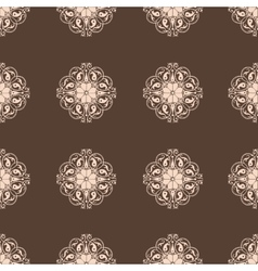 Seamless Damask wallpaper Vintage pattern vector image