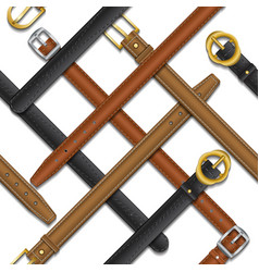 Seamless pattern belts vector