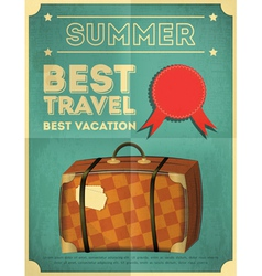 Suitcase travel poster vector