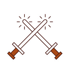 sword weapon warrior game vector image