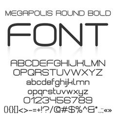 Trendy modern elegant bold font alphabet vector image