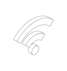 Wifi sign icon isometric 3d style vector image