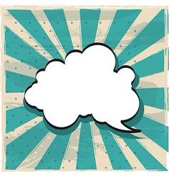 cloud of thought vector image