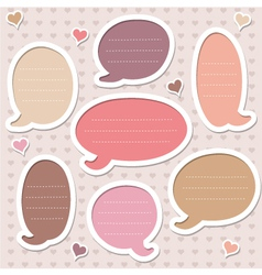 Collection of pink frames vector image vector image