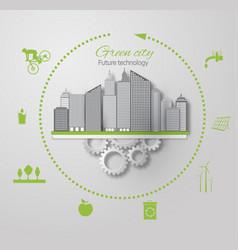 eco concept green city vector image