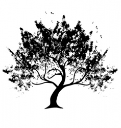 grunge tree vector image vector image