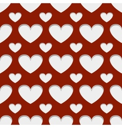 Hearts with shadow vector image vector image