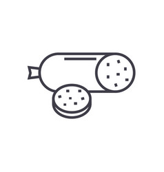 salami line icon sign on vector image
