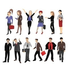 Set of full length portraits of business people vector image vector image