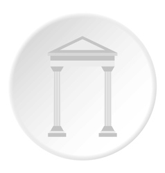 Arch with roof icon flat style vector