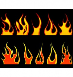 flame set vector image vector image