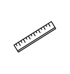 school ruler icon vector image