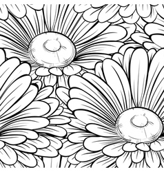 seamless background with monochrome black and whit vector image