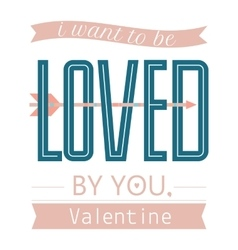 Valentine day or wedding posterTypography vector image vector image