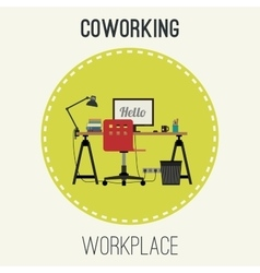Workplace flat vector image vector image