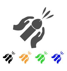 blowjob ejaculation icon vector image vector image