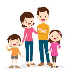 cute family portrait vector image