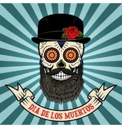 day of the dead dia de los muertos Sugar skull vector image vector image