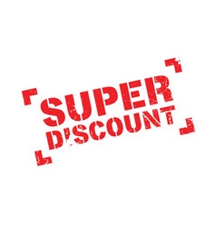Super discount rubber stamp vector
