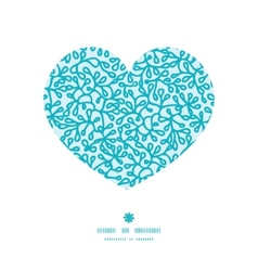abstract underwater plants heart silhouette vector image vector image
