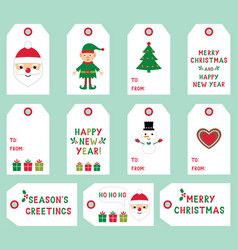 Christmas labels set vector