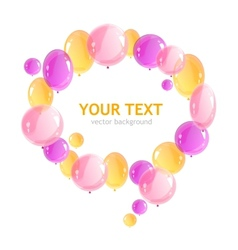 Holiday frame with colorful balloons vector image