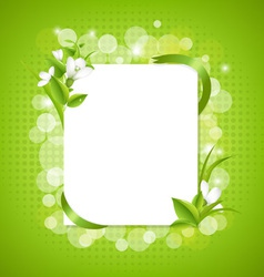 Snowdrop Framed Background vector image vector image