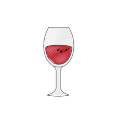 wine drink cup vector image