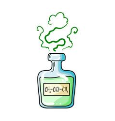 a vial of green potionmedicines for diabetics vector image