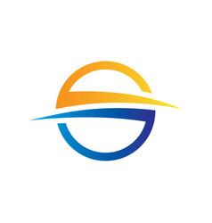 abstract circle arrow logo image vector image
