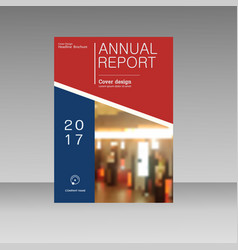 annual report brochure flyer template a4 vector image