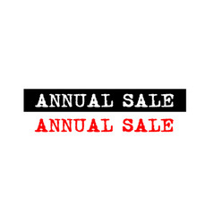 Annual sale rubber stamp badge with typewriter vector