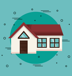 beautiful house icon vector image