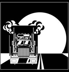 Big truck racing vector