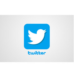 Bird twitter corporate business logo icon design vector