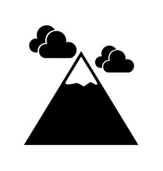 black icon mountain cartoon vector image